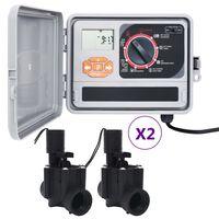 vidaXL Sterownik nawadniania ogrodu z 4 zaworami elektromagnetycznymi