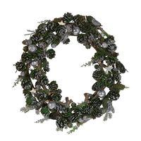Wieniec Świąteczny ⌀ 50 Cm Zielono-srebrny Filpus