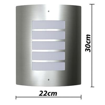 Lampy ścienne, zewnętrzne, wodoodporne, 2 w komplecie