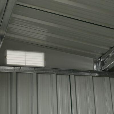 vidaXL Szopa ogrodowa z drzwiami przesuwnymi, antracyt, 386x131x178 cm