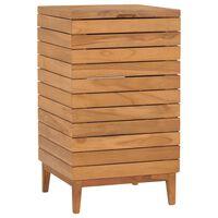vidaXL Kosz na pranie, 40x40x70 cm, lite drewno tekowe