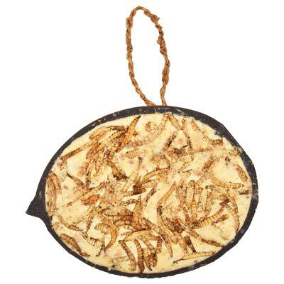 vidaXL Karma dla ptaków w połówkach kokosa, 10 szt., 290 g