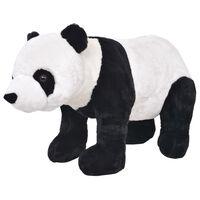 vidaXL Pluszowa panda, stojąca, czarno-biała, XXL