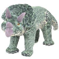 vidaXL Pluszowy triceratops, stojący, zielony, XXL