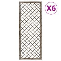 vidaXL Kratki ogrodowe, 6 szt., 30x120 cm, wierzba