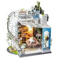 Robotime Miniaturowy zestaw modelarski Dora's Loft, z oświetleniem LED