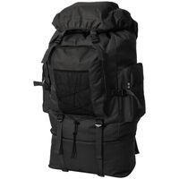 vidaXL Plecak XXL w wojskowym stylu, 100 L, czarny