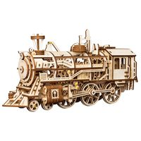 Robotime Mechaniczny drewniany model pociągu Locomotive