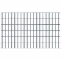 vidaXL Panele ogrodzeniowe 2D, 2,008 x 1,23 m, 8 m, szare