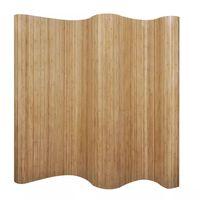 vidaXL Parawan z naturalnego bambusa, 250 x 165 cm