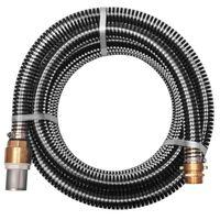vidaXL Wąż ssący z mosiężnymi złączkami, 15 m, 25 mm, czarny