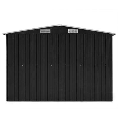 vidaXL Szopa ogrodowa, 257 x 489 x 181 cm, metal, antracytowa