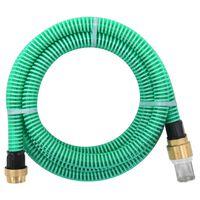 vidaXL Wąż ssący z mosiężnymi złączami, 3 m, 25 mm, zielony
