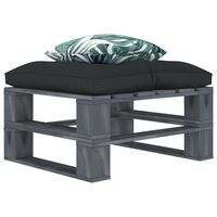 vidaXL Ogrodowy stołek z palet, z poduszkami w 2 kolorach, drewniany