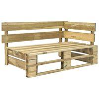 vidaXL Ogrodowa ławka narożna z palet, drewno