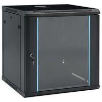 """vidaXL Ścienna szafka serwerowa 12U, 19"""", IP20, 600x600x640 mm"""