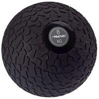 Avento Piłka slam ball z teksturowaną powierzchnią, 8 kg, czarna
