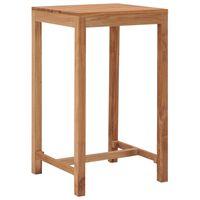 vidaXL Stolik barowy do ogrodu, 60x60x105 cm, lite drewno tekowe