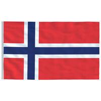 vidaXL Flaga Norwegii, 90x150 cm