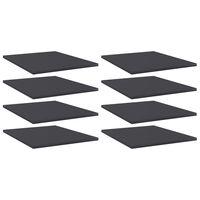 vidaXL Półki na książki, 8 szt., szare, 40x50x1,5 cm, płyta wiórowa