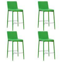 vidaXL Krzesła barowe, 4 szt., zielone, sztuczna skóra