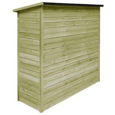 vidaXL Szopa ogrodowa z impregnowanego drewna sosnowego, 182x76x175 cm