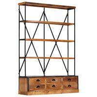 vidaXL Regał na książki z 4 półkami i 6 szufladami, 122 x 36 x 181 cm