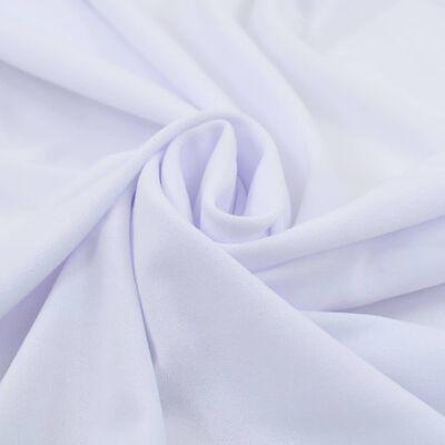 vidaXL Elastyczne obrusy z falbaną, 2 szt., 120 x 60,5 x 74 cm, białe