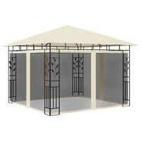 vidaXL Altana ogrodowa z moskitierą, 3x3x2,73 m, kremowa, 180 g/m²