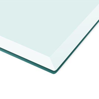 vidaXL Blat stołu szklany, prostokątny 1000x620 mm