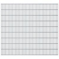 vidaXL Panele ogrodzeniowe 2D, 2,008 x 1,83 m, 4 m, szare