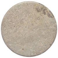 vidaXL Blat do stołu, szary, Ø60 x 2,5 cm, marmur