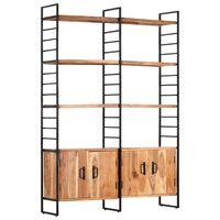 vidaXL Regał na książki, 4 poziomy, 124x30x180 cm, drewno akacjowe