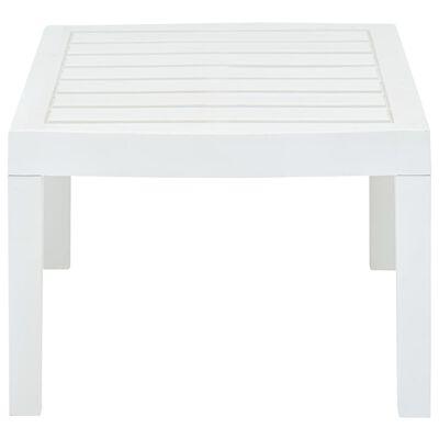 vidaXL Stolik kawowy, biały, 78x55x38 cm, plastikowy