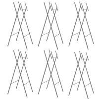 vidaXL Składane nogi do stołu, 6 szt., srebrne, 45x55x112 cm, stal