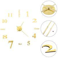 vidaXL Zegar ścienny 3D, nowoczesny design, 100 cm, XXL, złoty