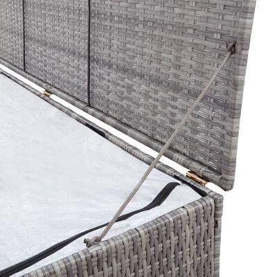 vidaXL Skrzynia ogrodowa, szara, 120 x 50 x 60 cm, rattan PE