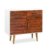 vidaXL Szafka z drewna akacjowego, 90 x 33,5 x 83 cm