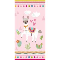 Good Morning Ręcznik plażowy LAMA, 75x150 cm, różowy