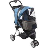 FLAMINGO Wózek dla psa Kiara, niebieski, 54x81x99,5 cm