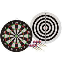 Abbey Darts Dwustronna tarcza do darta + 2 zestawy rzutek 52AZ-UNI-Uni