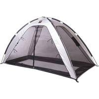 DERYAN Namiot z moskitierą na łóżko, 200x90x110 cm, srebrny