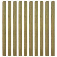 vidaXL 20 impregnowanych sztachet drewnianych, 140 cm