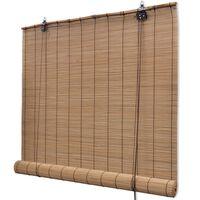 vidaXL Roleta bambusowa, 100 x 220 cm, brązowa