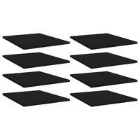 vidaXL Półki na książki, 8 szt., czarne, 40x50x1,5 cm, płyta wiórowa