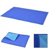 vidaXL Koc piknikowy niebieski i jasnoniebieski 100x150 cm
