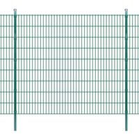 vidaXL 2D Panele i słupki ogrodzeniowe 2008x1830 mm 26 m zielone