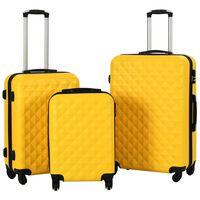 vidaXL Zestaw twardych walizek, 3 szt., żółte, ABS