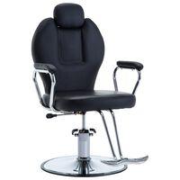 vidaXL Fotel barberski ze sztucznej skóry, czarny