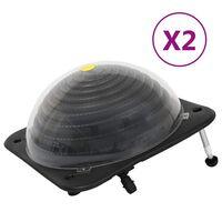 vidaXL Solarne podgrzewacze do basenu, 2 szt., 75x75x36 cm, HDPE